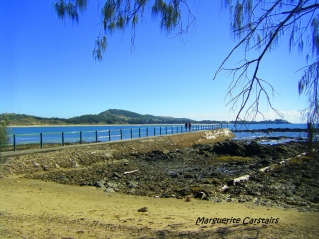 Walking the bridge at Emu Park