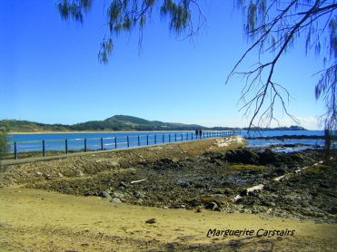 Walking the bridge at Emu Park