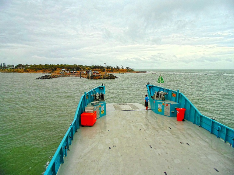 Leaving curtis Island