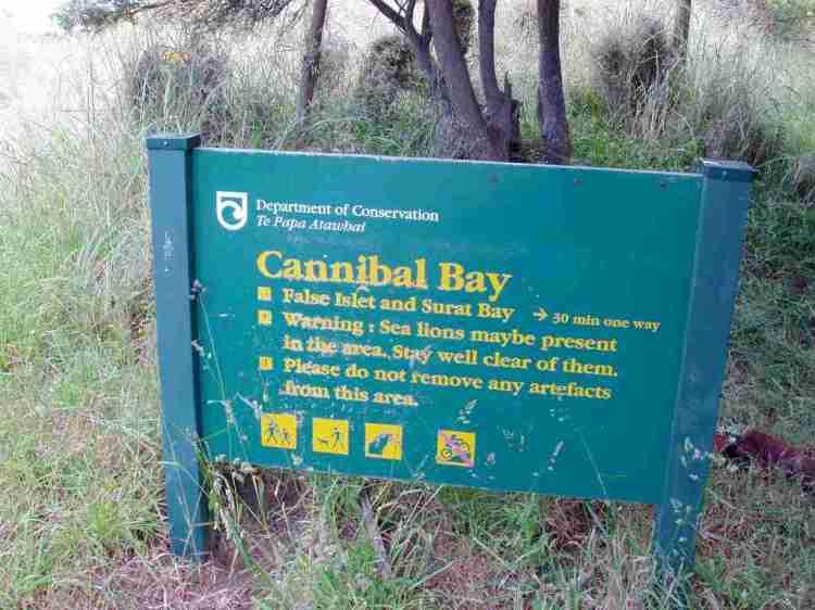 Cannibal Beach Info Board
