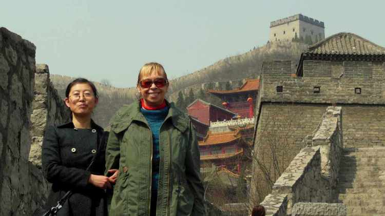 On the top of the Great Wall Yangquan