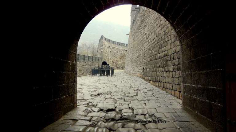 Through the Entrance Gate and the Start of the Great Wall of China at Yangquan