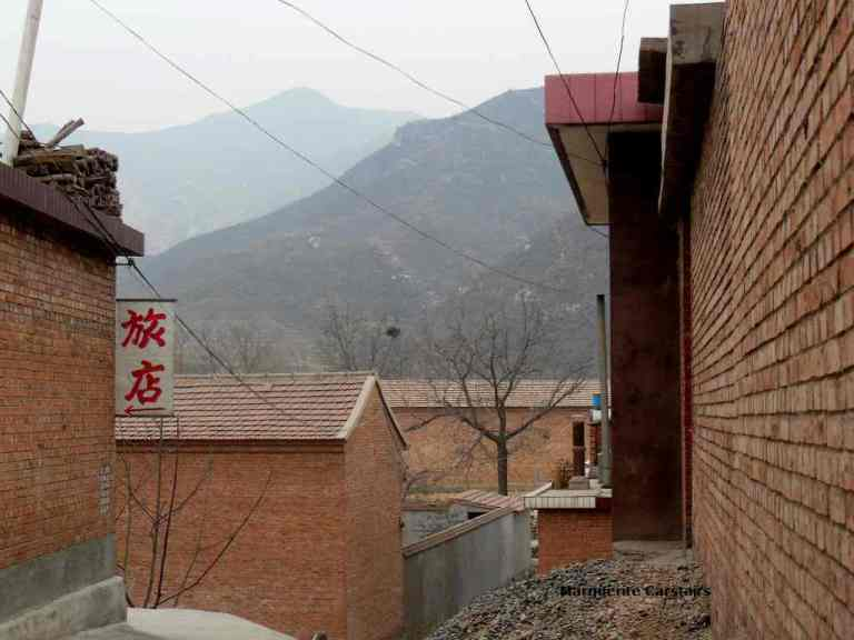 The mountains surround the village and they continue through to Hebei Province