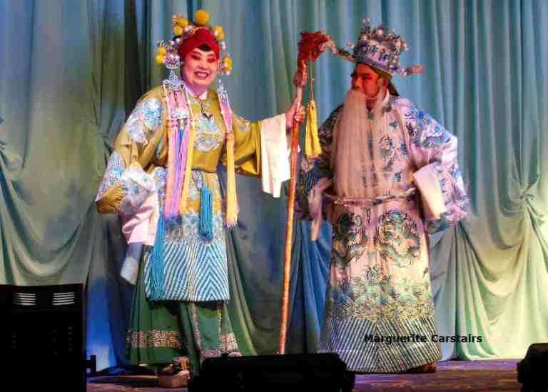 The Leading Mother and Courtier at the Chinese Opera at Liangjiazhai