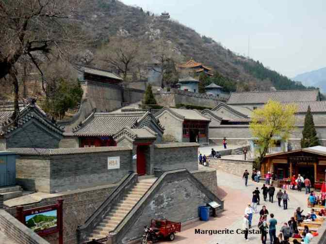 Tourist Area at the JeYong Pass  with many stalls selling tourist items