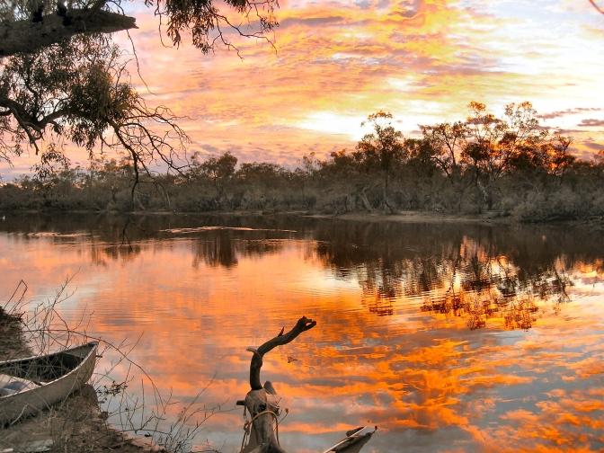 Sunset, Currawinya National Park, Outback Australia