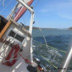 Sailing around Karrigarra Island from Russell Island