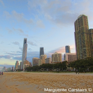 The High Rise Buildings edge the surf beach for fabulous water views