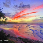 Sunset at Cylinder Beach Stradbroke Island