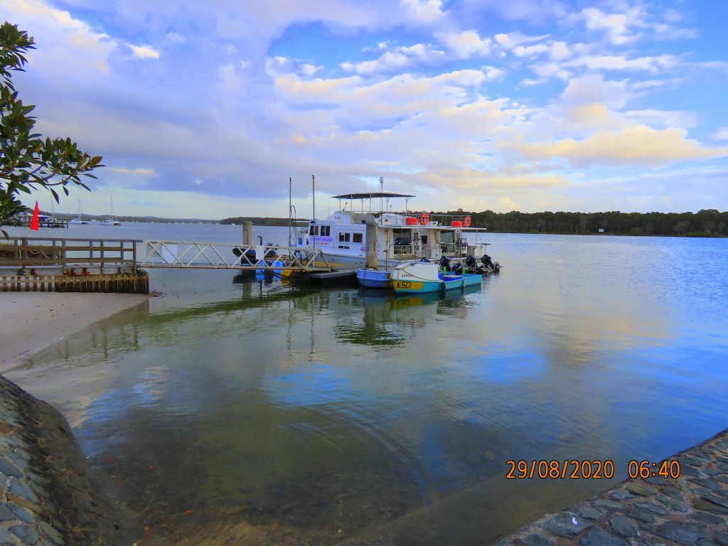 Reflections and Yachts at Tin Can Bay Marina